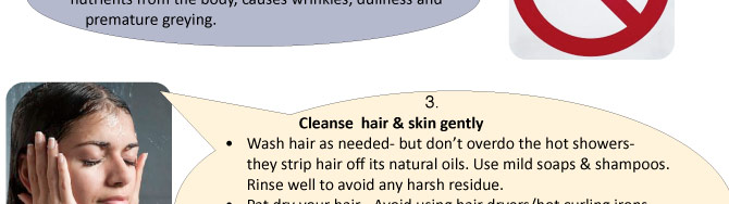 Five Checkmarks For Healthy Hair & Skin